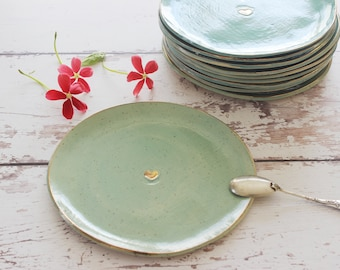 Cake plate, Dessert plate, Ceramic plate, small ceramic plate, modern plate, pottery plate, gold plate, ceramic dish, porcelain dinnerware