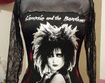 Siouxsie & the banshees top shirt Punk Goth corset Diy custom