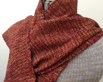 Handwoven Scarf  in Sunset rayon chenille