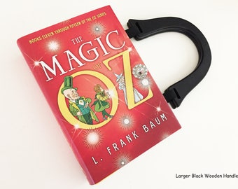 Wizard of Oz Recycled Book Purse - Vintage Oz Stories Book Clutch - Wicked Witch Pocketbook - Wizard of Oz Collector Gift