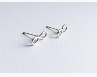 Infinity Earrings SILVER, Infinity Love, Infinity earrings gold, bridesmaids gift