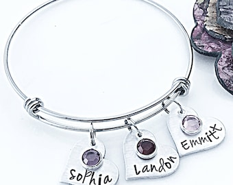 Personalized Bracelet, Christmas Gifts for Mom, Christmas Gift Ideas, Kids Name Jewelry, Kids Name Bracelet, Grammy Gift, Grandmother Gift