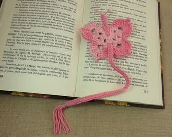 Bookmarks butterfly, pink bookmark, bookmark crochet jewelry book, pink butterfly cotton bookmark, bookmark handmade, reader gift
