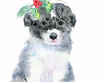 Pet Portrait Dog Art Watercolor Original watercolor painting dog Pet painting Dog watercolor