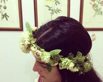Custom Floral Silk Crown