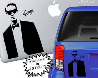 G-Eazy Silhouette Decal | G Eazy Sticker | Eazy decal | G Easy Laptop Sticker | Car decal | Celebrity sticker | Window Sticker | Vinyl Decal