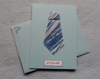 Origami 257 tie card