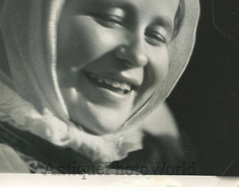Czech peasant girl vintage art photo by A. Williams