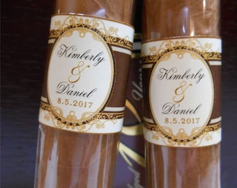 Great Gatsby Wedding Cigar Bands - Custom Printed for you -  Cigar Labels for Wedding Party