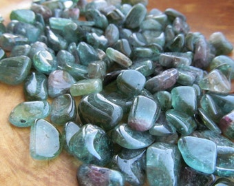 Green Tourmaline Small Tumbled Stone T81A