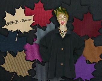 Plus sizes - US 18 - 34, UK 20 - 36 Layered-look fantastic plus size jacket, corduroy, black