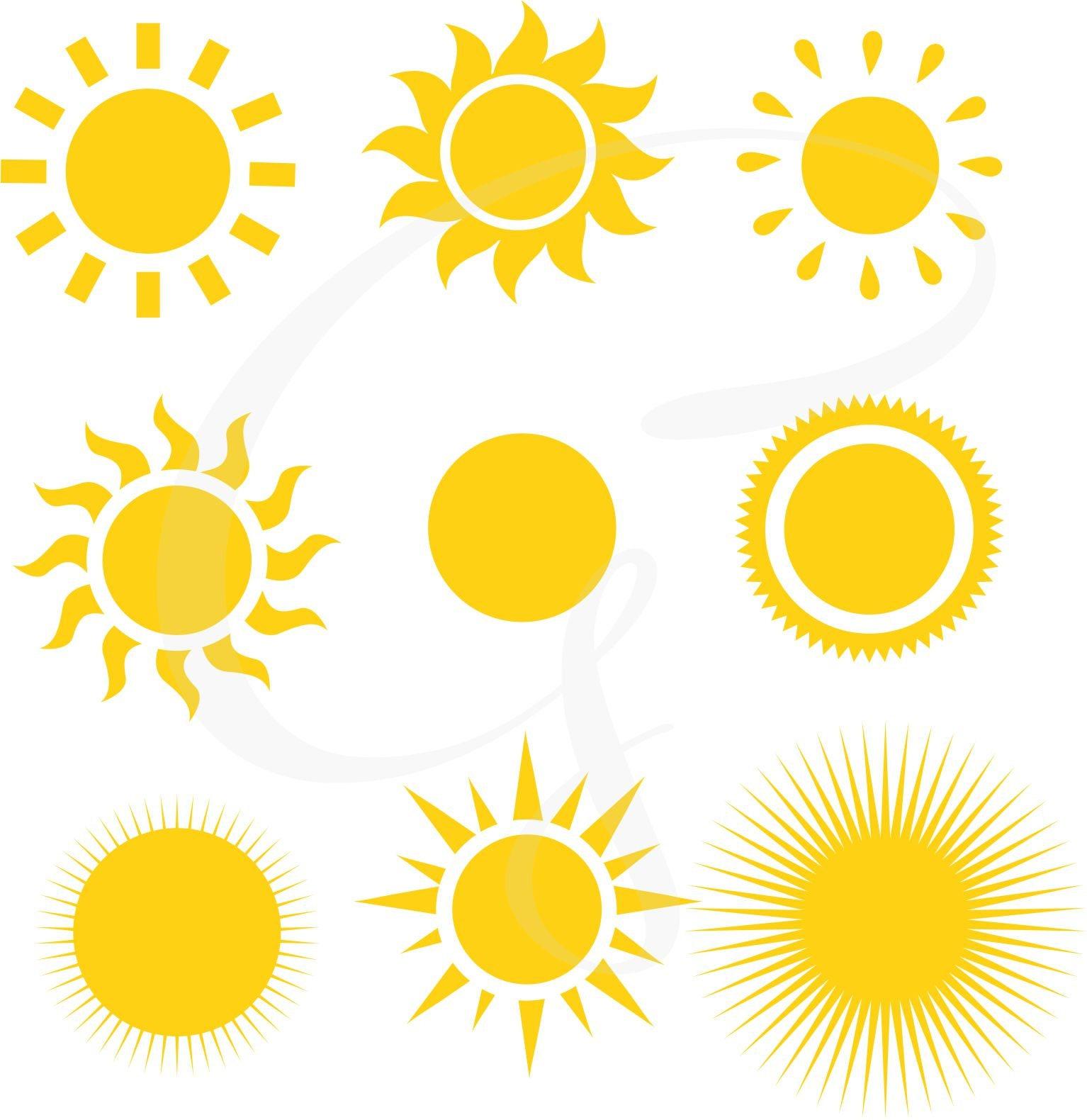 Sun clipart Sun Digital Clipart sunshine commercial use