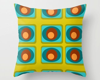 Pillow Mid Century Modern Pillow Cover Cushion Cover Home Decor Living Room Decor Mid Century Retro Bedroom Decor House Warming Gift