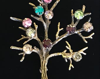 "Tree of Life-Sterling with Tourmaline Rhinestone 2""-Christian Heller"