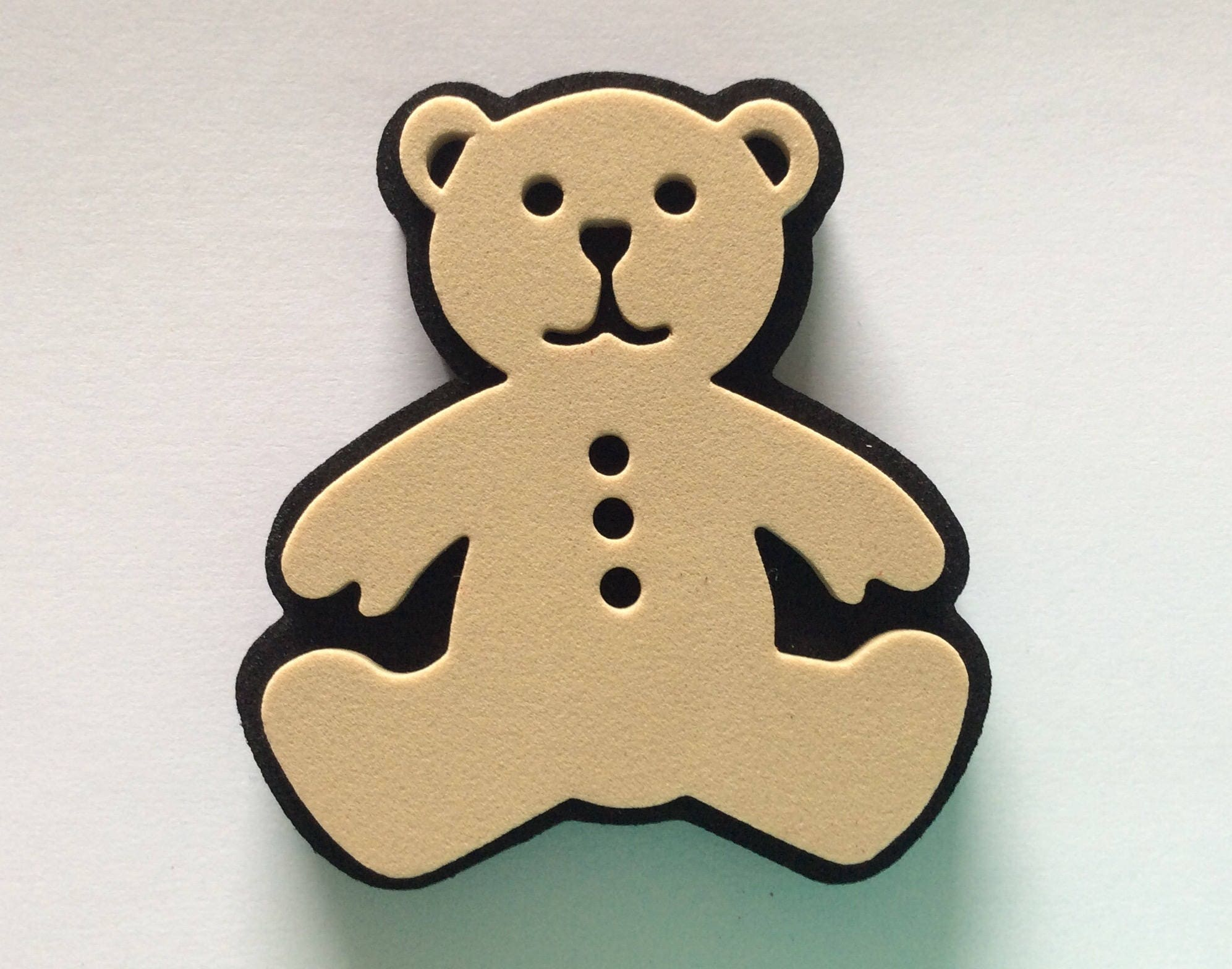 Large FOAM TEDDY STAMP Christmas / wall decor / fabric / pottery ...
