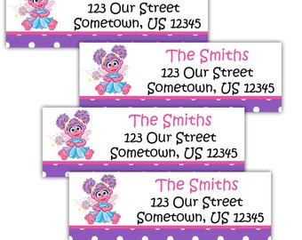 Abby Cadabby Sesame Street- Personalized Address labels, Stickers