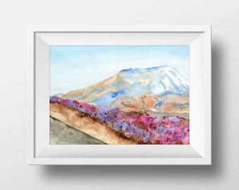 Mount Saint Helens Original Watercolor