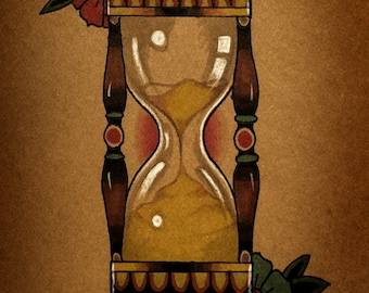 Old School Hourglass By thebrokenpuppet