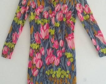 vintage tulip print dress