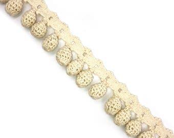 3 Yards Crafted Pom Pom Crochet Trim
