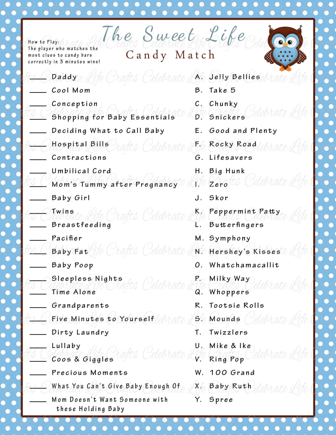 It's just an image of Universal Baby Shower Candy Bar Game Printable