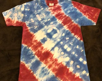 Tie-dyed Youth (LG) Tee-shirt, Celebrate July 4th in style!