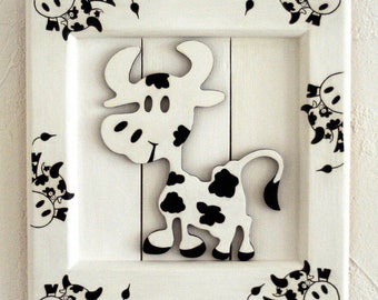 """Child's room table """"Little cow"""""""
