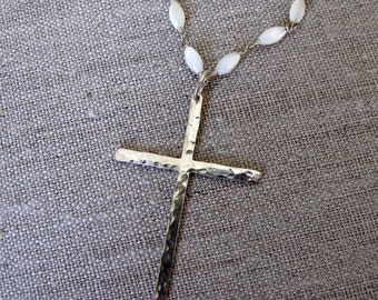 Sterling Silver Cross Necklace Handmade
