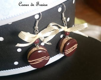 Gourmet Chocolate Caramel polymer clay earrings