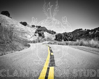 California Country Road [Chromatic Monochrome]