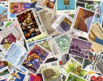 Australia Stamps, 100 Diff, Australia Postage Stamps, Australian Stamps, Australian Postage Stamps, Stamp Collection