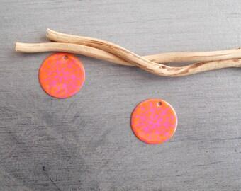 X 2 orange and hot pink sequins