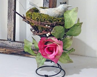 UP-CYCLED - old made new treasure - SPRINGy birds nest - decor - spring - NO112