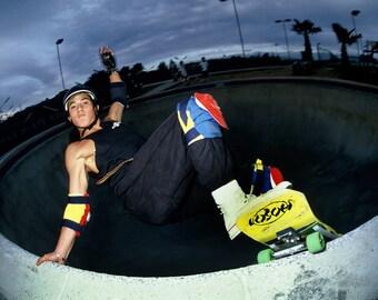 80s Skate Photo - Christian Hosoi Layback Del Mar Eighties Skateboarding Photograph 18 x 24 Inch Photo Print
