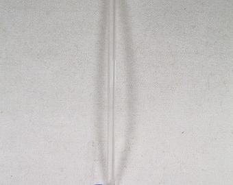 Cobalt Blue Clear Long Handle Glass Hand Blown Spoon
