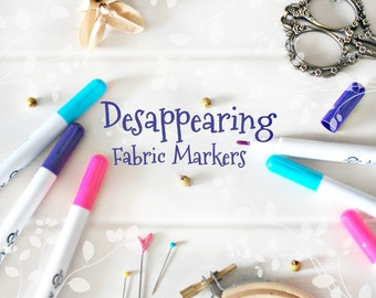 Disappearing Felt Marker - Erasable Ink Fabric Marker - Hand Embroidery Tool - Vanish Ink Marker For Wool Felt - Erasable Fabric Markers