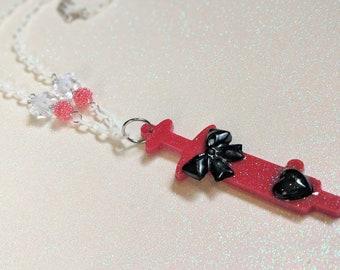 Menhera syringe necklace