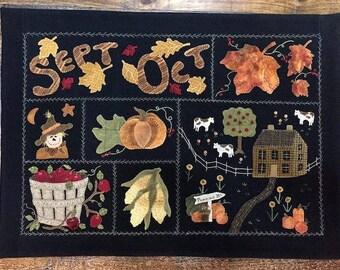 Pattern: Sept-Oct Wall-Hanging Pattern by Cricket Street Wool