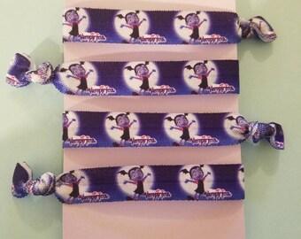 Set of 4 Vamperina elastic hair ties