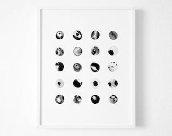 Abstract Ink Art, Modern Print Art, Watercolor Artwork, Ink Blot, Pen and Ink, Abstract Paint, Black Ink, Zen Artwork, Simple Wall Decor