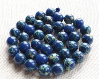 5 Jasper Aqua Terra natural 8mm dark blue