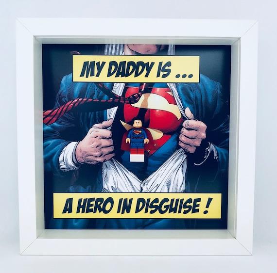 Superman Dad Minifigure Frame