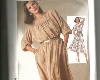 Simplicity 7277 cut and complete vintage 1980 size 12 and 10 womans dress