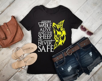 Arya Stark T-Shirt Game Of Thrones T-Shirt Leave One Wolf Alive Tee