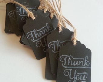Chalkboard wedding favor tags, Chalkboard tags, Wedding tags, Favor tags, Thank you tags, Wedding thank you tags, Set of 12, 50, or 100