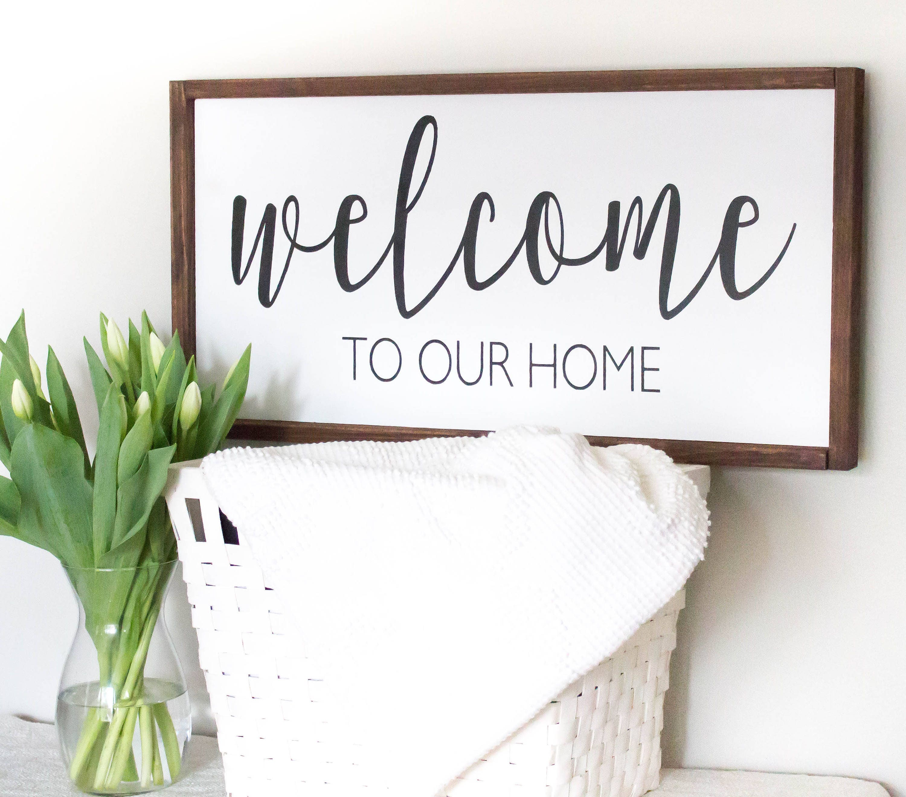 Welcome Sign Welcome To Our Home Welcome Wood Sign