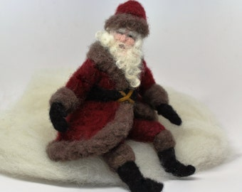 Father Christmas   Wool needle  felted santa