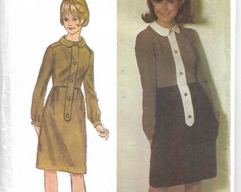 """Sewing pattern - dress pattern - Mary Quant -  Womens Vintage Sewing Pattern - Size 16, Bust 36"""""""