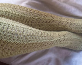 Knitting pattern fishtail lace knee socks and boot socks
