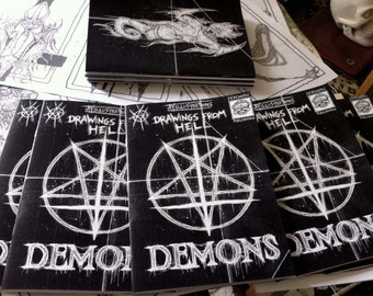 DEMONS zine /satanic art book/  unholy demonic illustrations